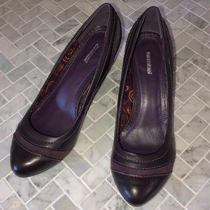 Graceland Eggplant Wedge Heel